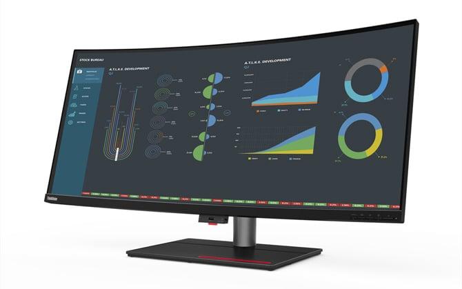 Lenovo anuncia monitor ThinkVision P40w-20 com conexão Thunderbolt 4