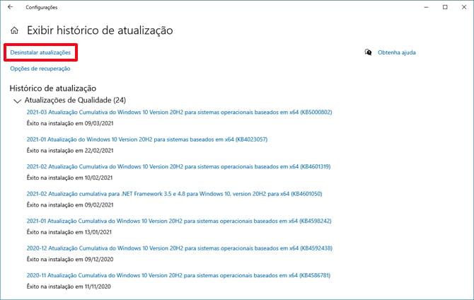 Atualização de março do Windows 10 causa problema com o uso de impressoras