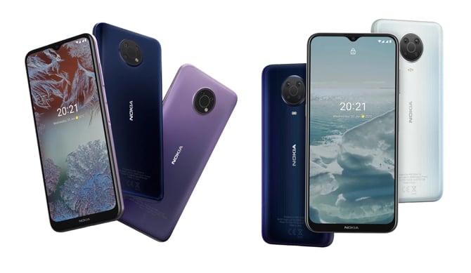 Nokia G10 e Nokia G20 trazem bateria de 5.050mAh e preços acessíveis