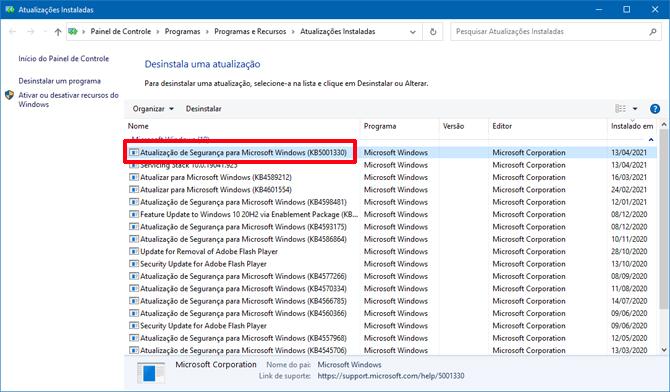Atualização do Windows 10 causa tela azul e outros problemas