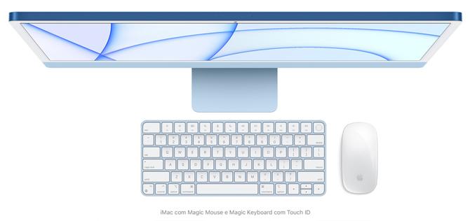 Novo iMac com chip Apple M1 tem design mais fino e diversas opções de cores
