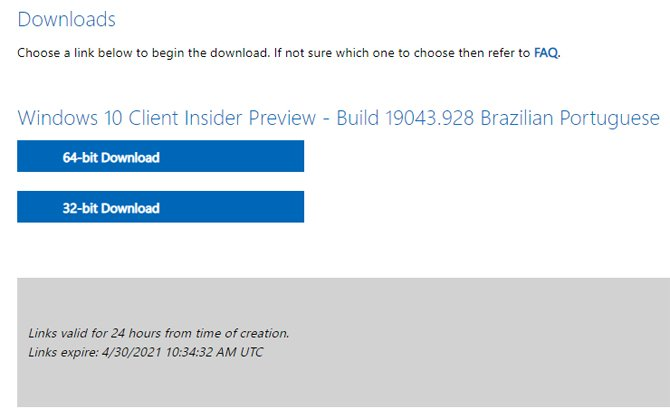 Windows 10 21H1 será lançado como Windows 10 May 2021 Update
