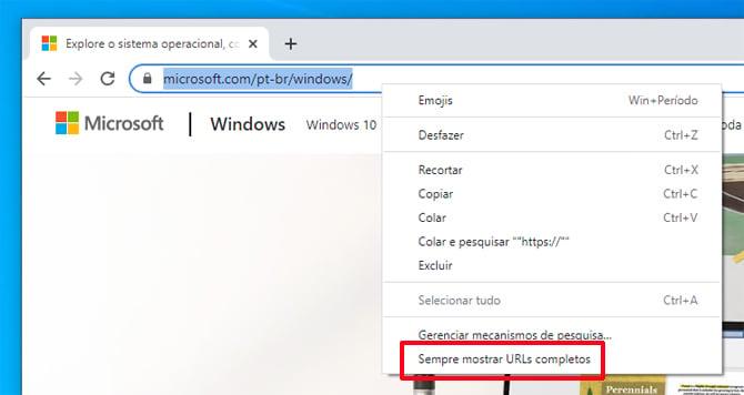 Google Chrome voltará a exibir a URL completa na barra de endereços