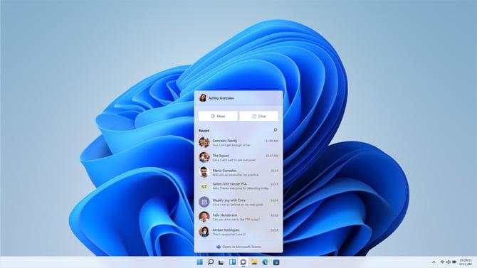 Chat do Microsoft Teams será integrado na barra de tarefas do Windows 11
