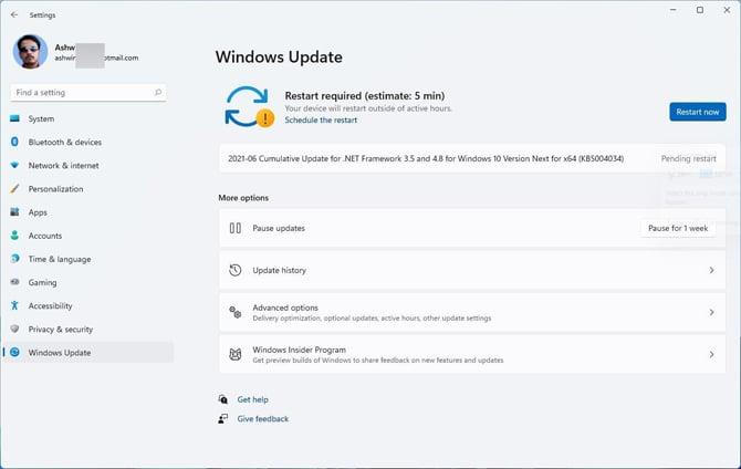 Windows 11 agora dirá quanto tempo ele levará para instalar atualizações