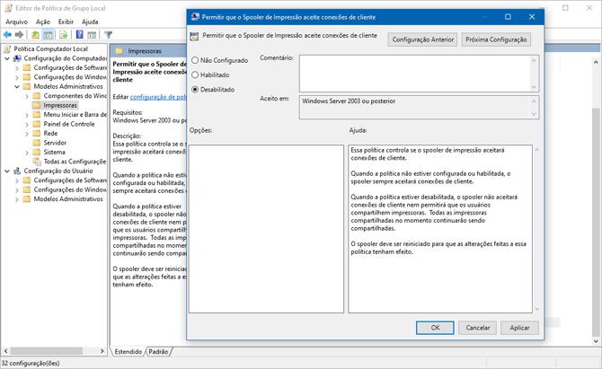 Correção de emergência para vulnerabilidade PrintNightmare já está disponível