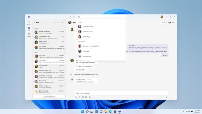 Microsoft inicia testes da integração do Microsoft Teams com o Windows 11