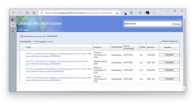Microsoft disponibiliza prévia do update de agosto para o Windows 10 v1809