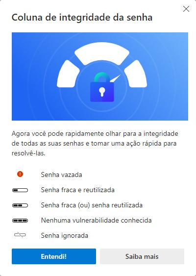 Microsoft Edge 92 agora permite verificar integridade das senhas salvas