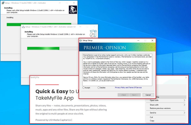 Instaladores falsos do Windows 11 são usados para infectar PCs com malware