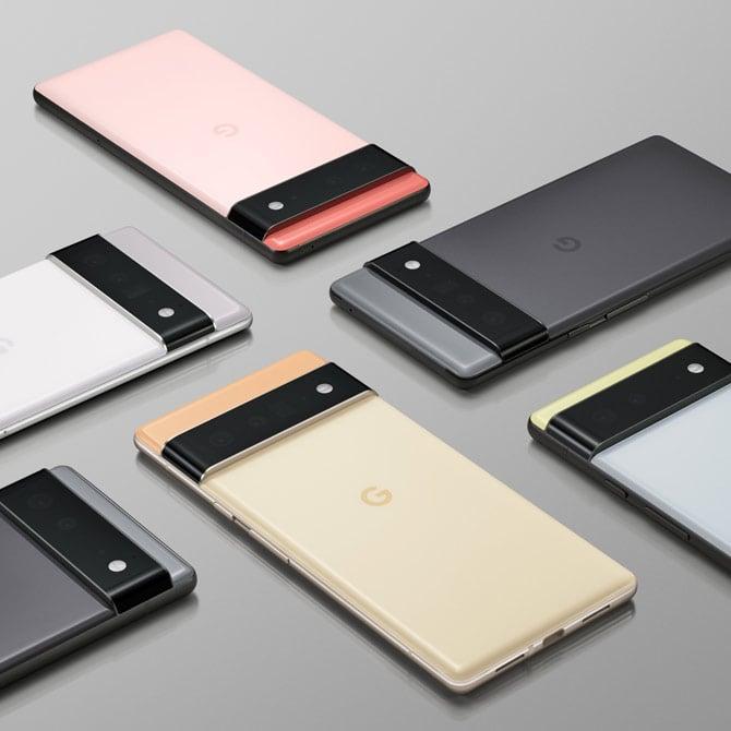 Cores do novo Google Pixel 6