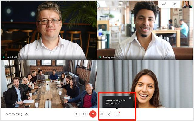 Google Meet agora avisará se você está causando eco nas reuniões online