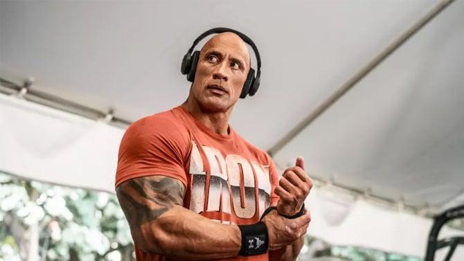 The Rock e seus novos fones Bluetooth