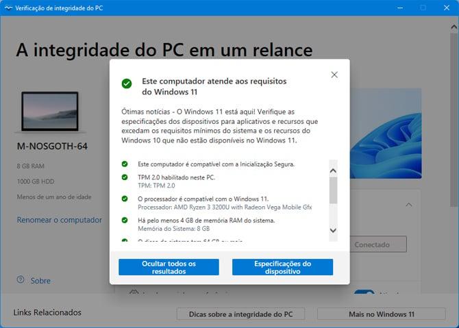 Windows 11: Microsoft atualiza app para verificar a compatibilidade dos PCs