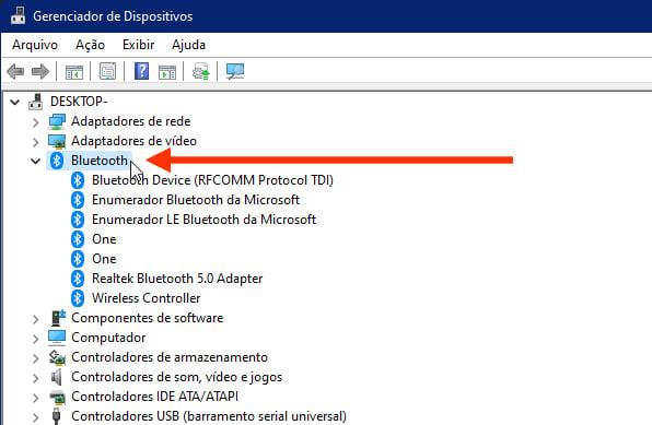 Gerenciador de Dispositivos do Windows