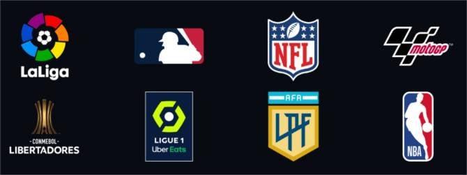 Algumas das competições esportivas disponíveis nos canais ESPN