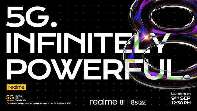 Smartphones Realme 8s 5G e Realme 8i são anunciados com processadores MediaTek