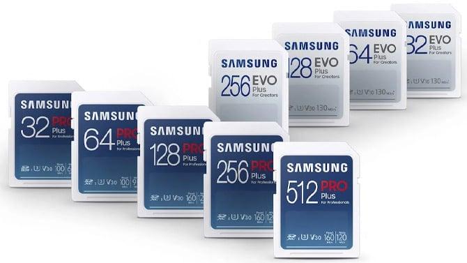Cartões SD Samsung