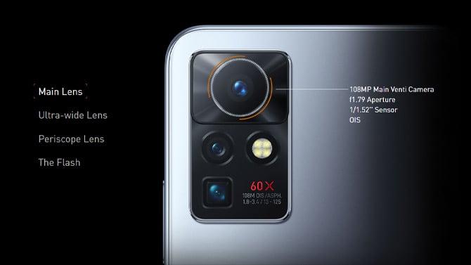 Câmera com OIS do Zero X Pro