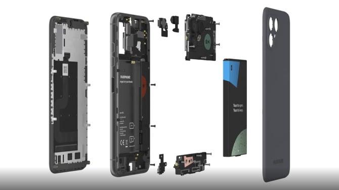 Fairphone 4 desmontado