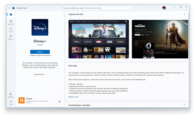 Disney+ agora tem aplicativo oficial para Windows