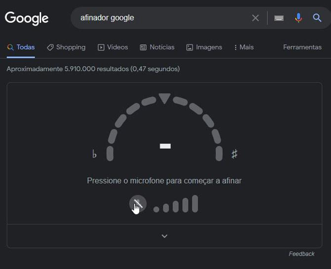 Ativar Afinador Google