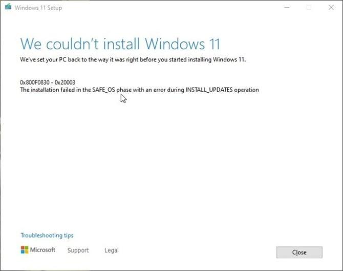 Windows 11: como resolver problemas de instalação com código 0x8007007f