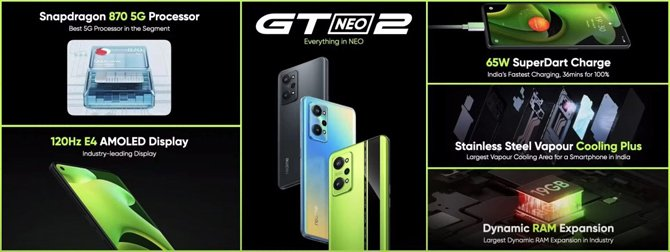 Realme GT Neo2 global é oficial: Snapdragon 870 e tela de 120Hz por US$ 424