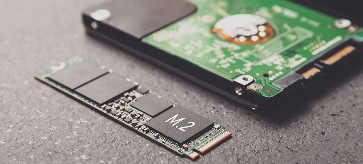 333 milhões de SSDs foram comercializados em 2020, totalizando 207 exabytes de dados