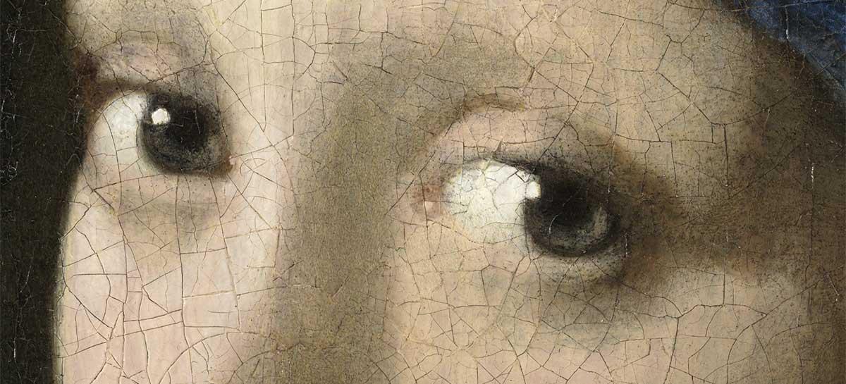 """Veja detalhes da pintura """"Moça com o Brinco de Pérola"""" em resolução de 10 gigapixels"""