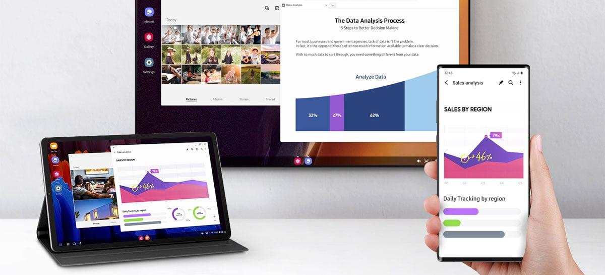 One UI 3.1 traz suporte sem fio ao Samsung DeX no PC para mais smartphones