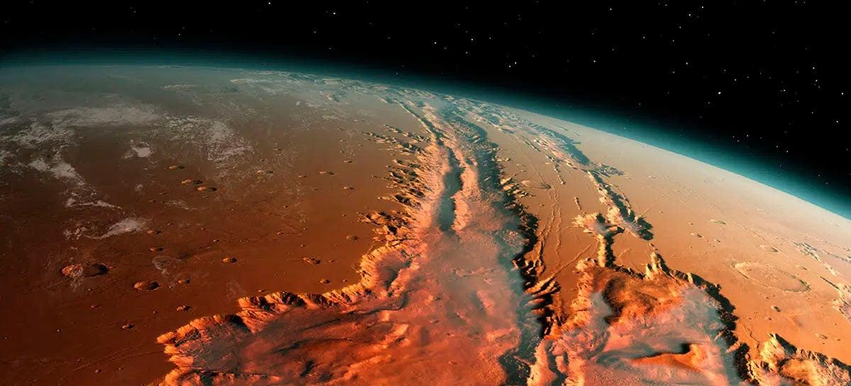"""Marte possui um """"oceano"""" escondido abaixo de sua superfície"""