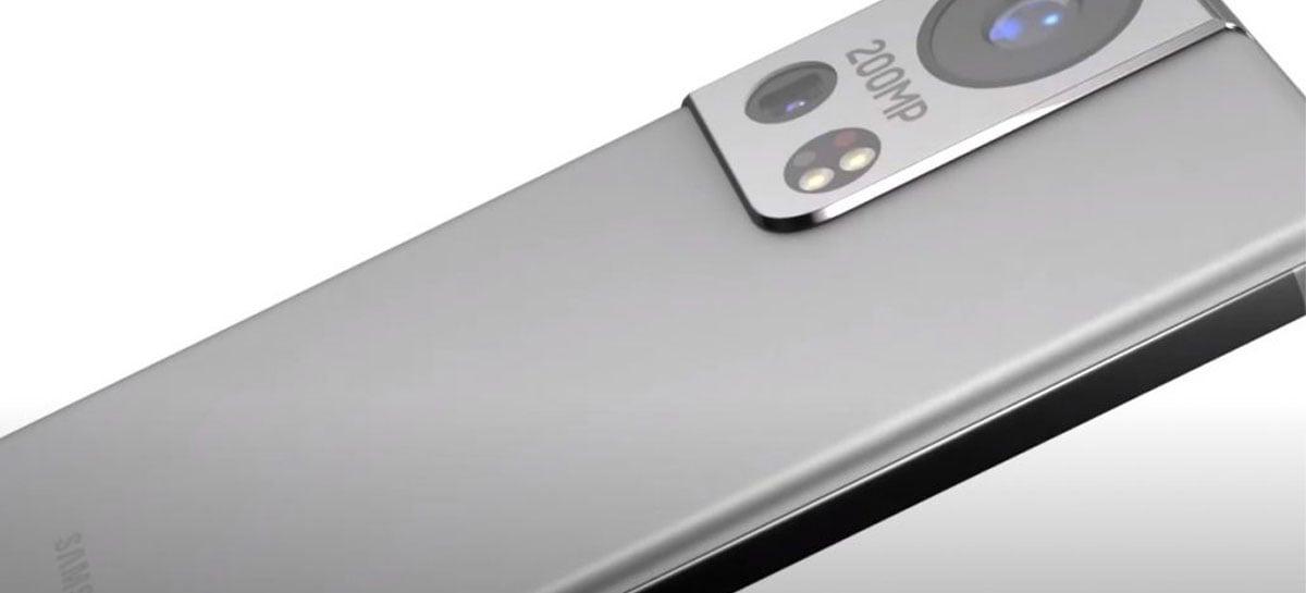 Conceito do Galaxy S22 tem câmera com novo sensor de 200MP da Samsung