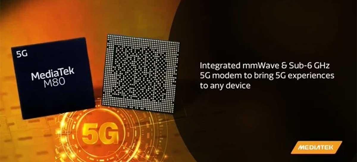 Helio M80 é o primeiro modem 5G da MediaTek com suporte a mmWave