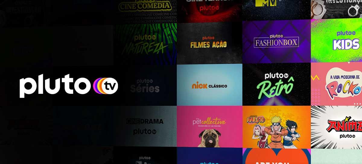 PlutoTV vai disponibilizar mais três novos canais para o Brasil