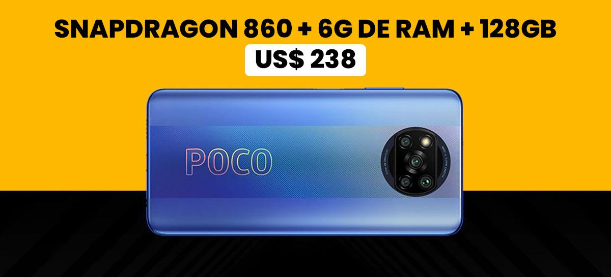 PROMOÇÃO: POCO X3 Pro de alto desempenho com Snapdragon 860 por menos de R$ 1255