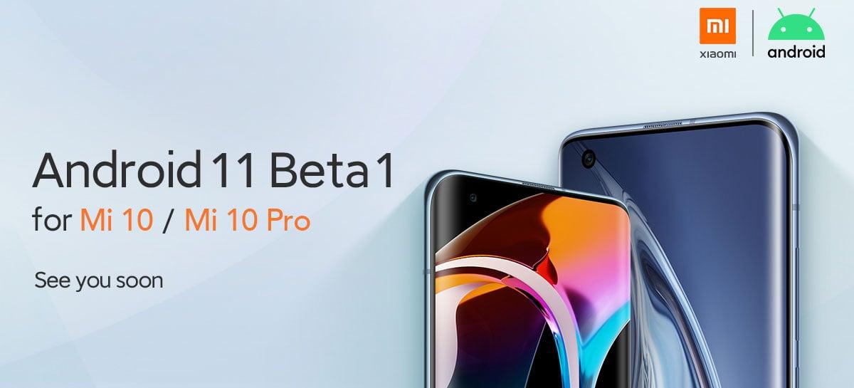 Xiaomi anuncia Android 11 Beta 1 para o Mi 10, Mi 10 Pro e Poco F2 Pro