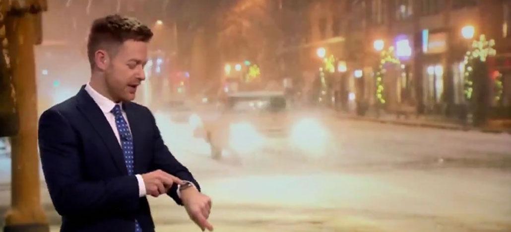 Apple Watch Siri interrompe previsão de meteorologista e o contradiz ao vivo