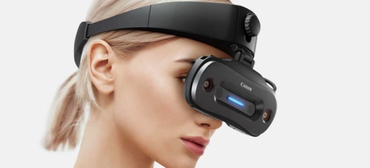 Novo óculos de realidade mista da Canon é menor que um celular