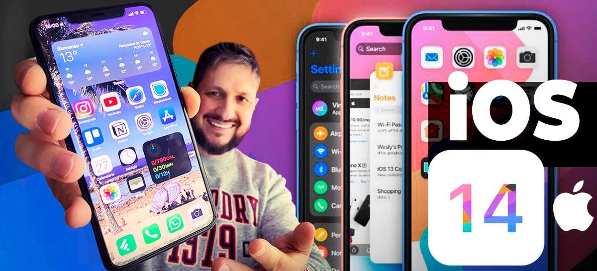 """Testamos o iOS 14 beta! Confira os WIDGETS, biblioteca de apps e outras """"novidades"""""""