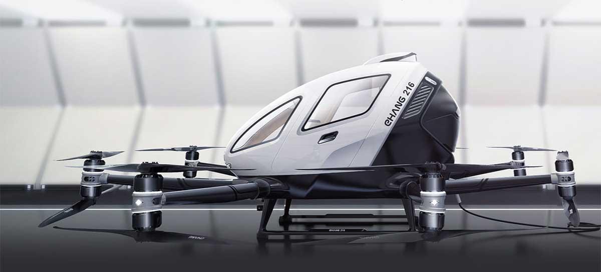 Incrível drone para passageiros da EHang será testado no Canadá