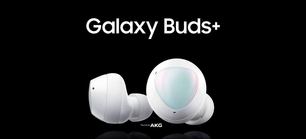 Galaxy Buds+ são os novos fones de ouvido sem fio da Samsung