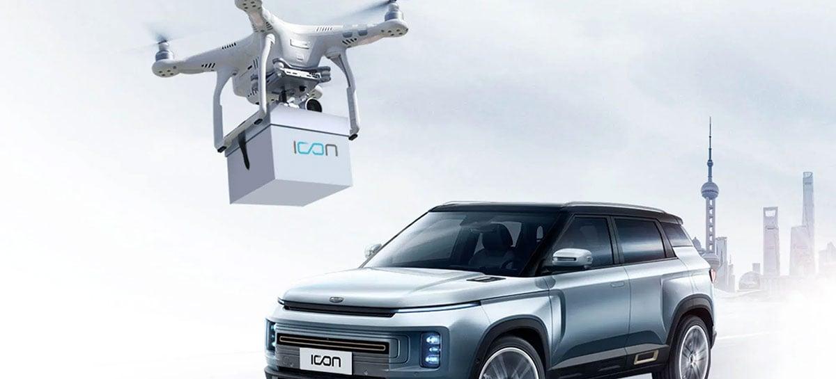 Empresa chinesa de automóveis usa drones para entregar chaves de carros