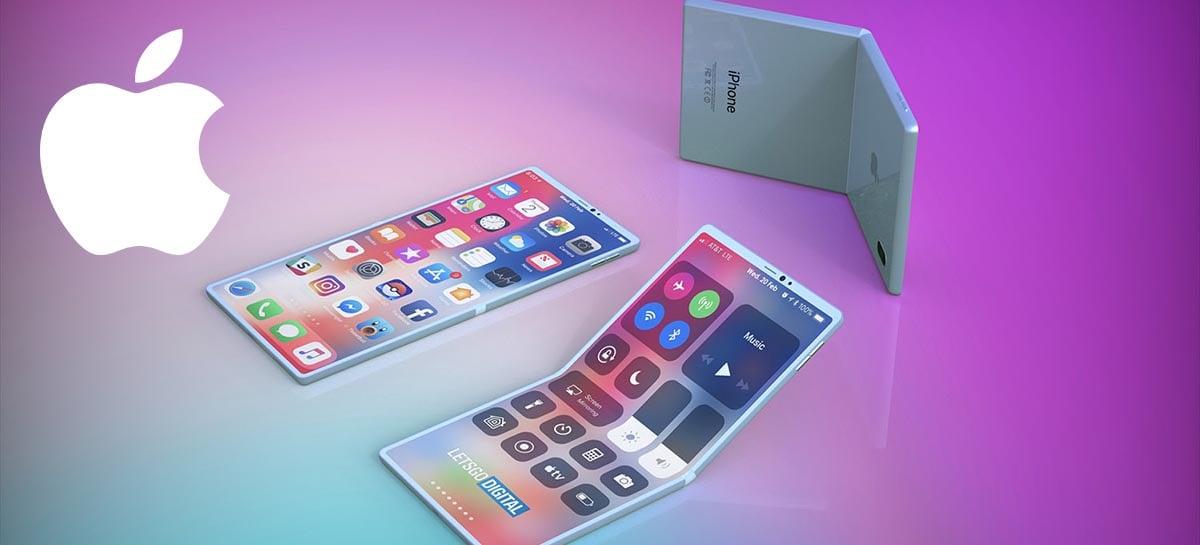 Apple estaria desenvolvendo Iphone dobrável com telas dobráveis da Samsung