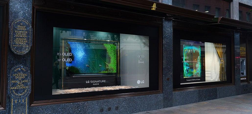 LG faz parceria com Harrods e exibe displays OLED transparentes em vitrines da loja