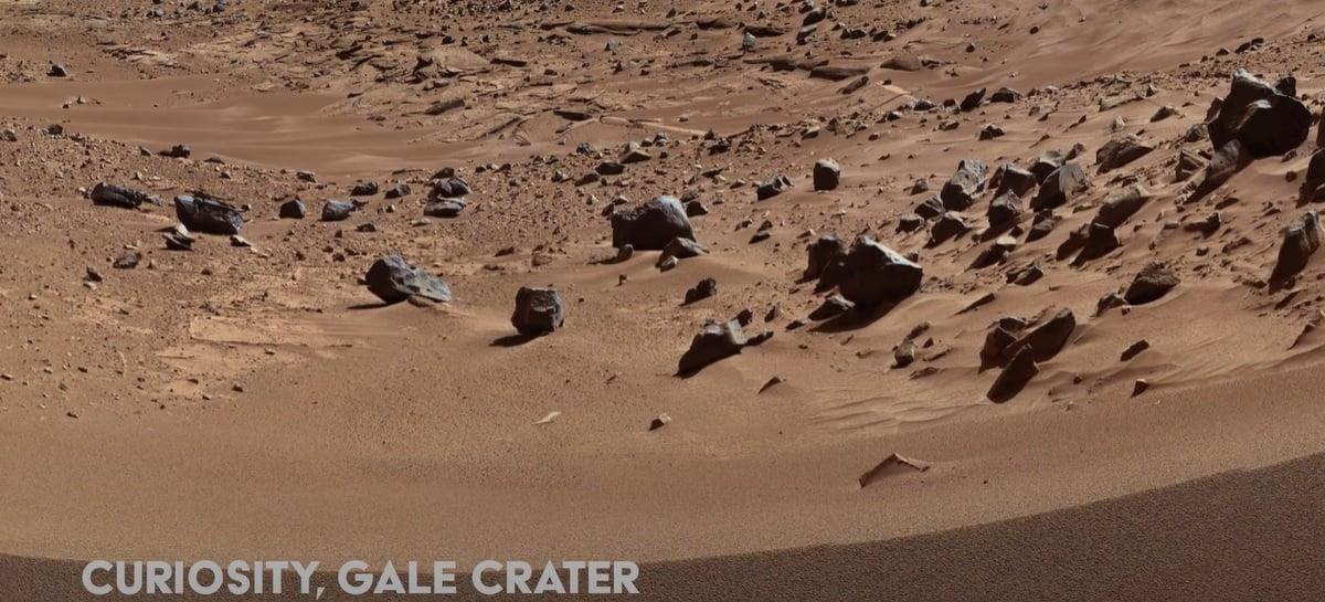 Assista em 4K um tour por Marte registrado pela NASA