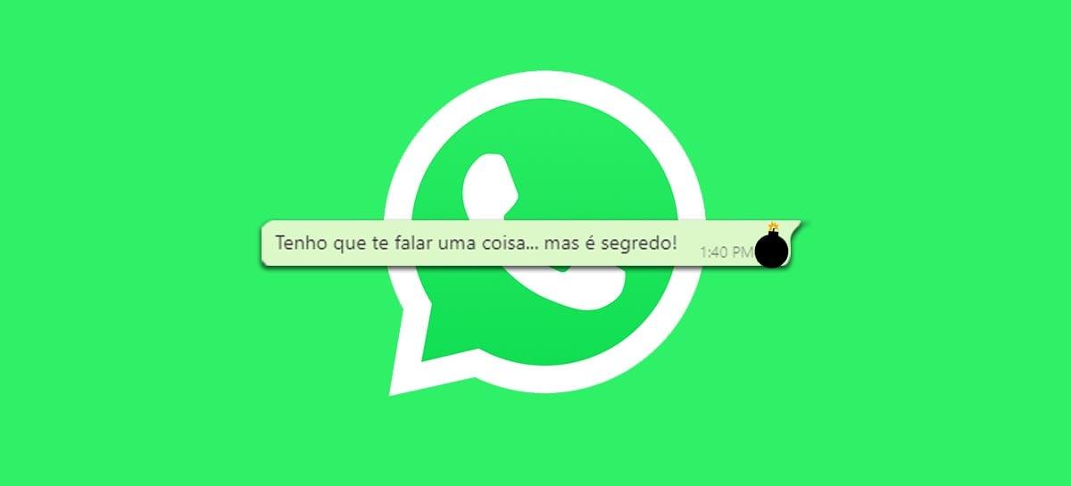 Whatsapp vai introduzir recurso de mensagens que se apagam sozinhas