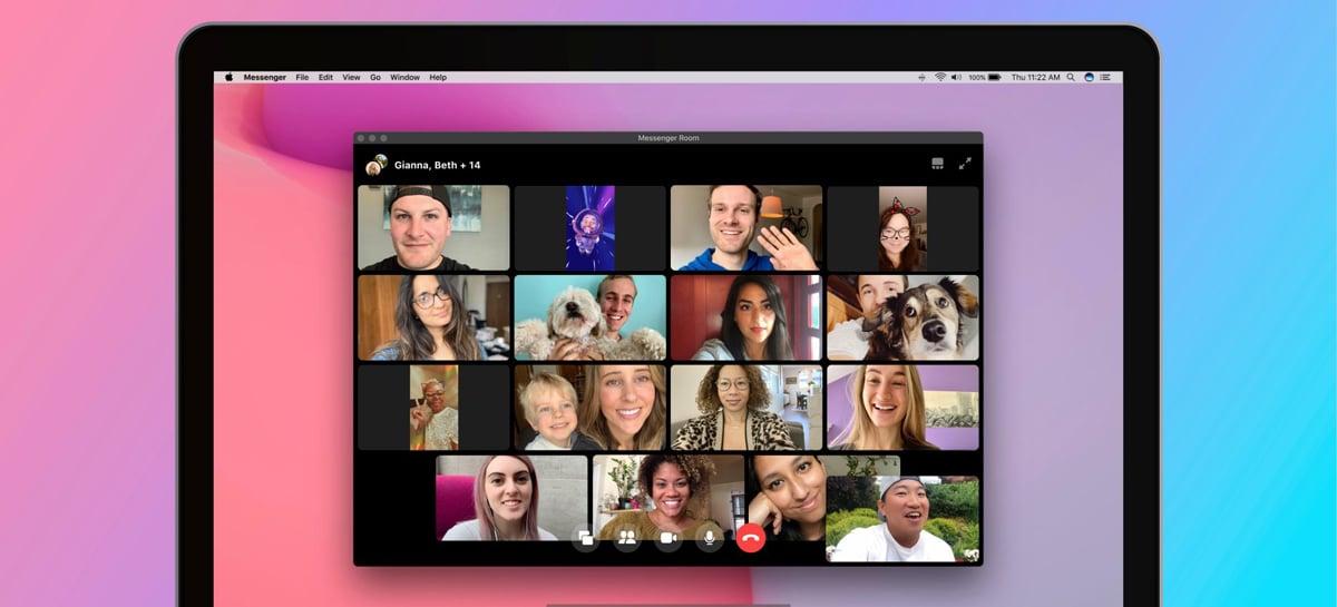 Facebook Messenger Rooms chega com suporte para chamadas em vídeo com até 50 pessoas