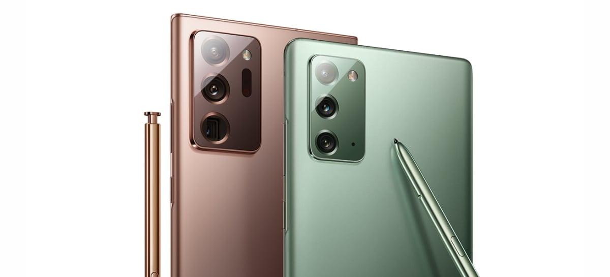 Galaxy Note 20 e Tab S7 apresentam problema de tela com tonalidade verde