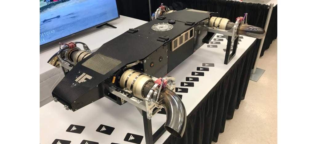 Conheça o AB5 JetQuad, drone equipado com motores a jato de 200 cv